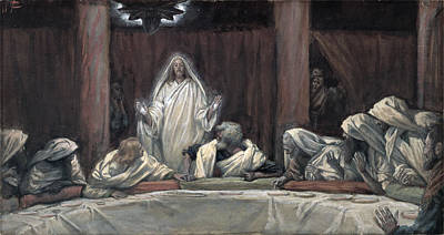 Miraculous Painting - He Appeared To The Eleven by Tissot