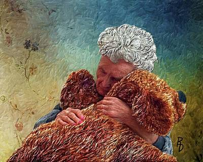 Digital Art - He Brings Me Comfort by Ric Darrell