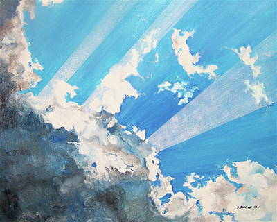 Coming Clouds Painting - He Cometh by Bart Dunlap