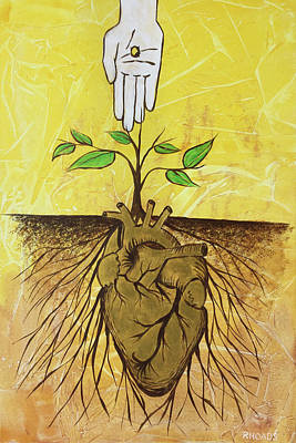 Art Print featuring the painting He Cultivates Our Hearts by Nathan Rhoads