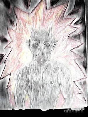 Drawing - He Flame by Yury Bashkin