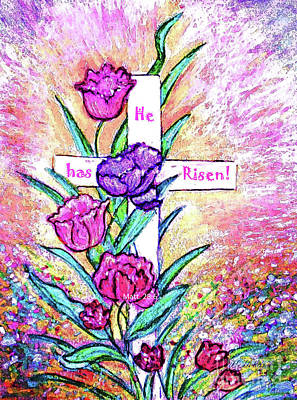 Painting - He Has Risen by Hazel Holland