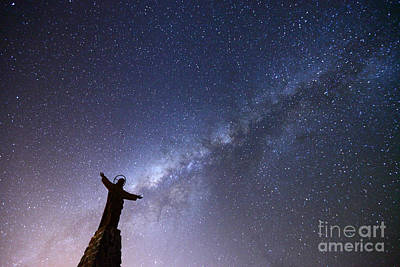 Redeemer Photograph - He Held The Stars In The Palm Of His Hand by James Brunker