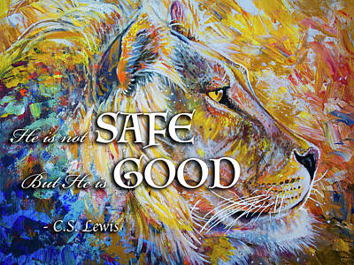 Painting - He Is Not Safe But He Is Good by Aaron Spong