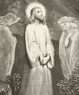 The Resurrection Of Christ Drawing - He Is Risen by English School