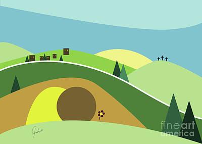 Holyland Digital Art - He Is Risen by Fady Dow