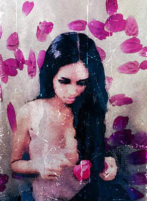 Female Photograph - He Loves Me He Loves Me Not by Avriahartz Digital Arts