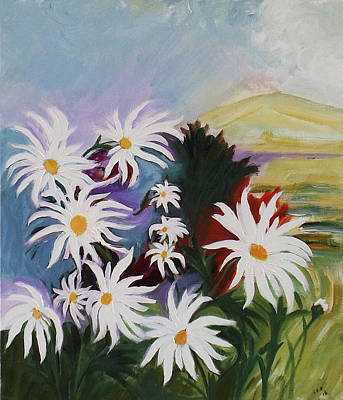 Painting - He Loves Me He Loves Me Not by Gloria Dietz-Kiebron