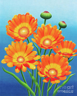 Wall Art - Painting - He Loves Me, He Loves Me Not by Tracy Farrand