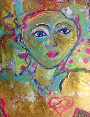 Painting - He Made The Grass Grow Under Her Feet by Judith Desrosiers