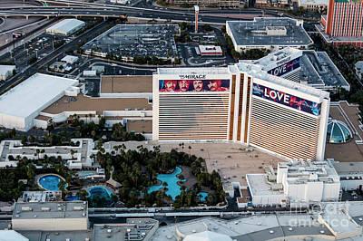 he Mirage Hotel on the Strip, Las Vegas Art Print