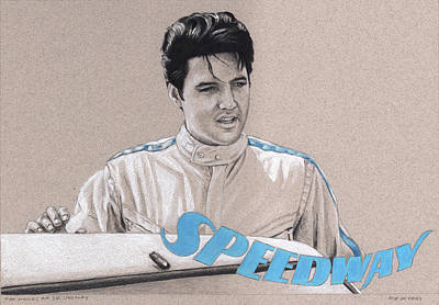 Drawing - he Movies no.27, Speedway by Rob De Vries