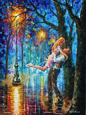 He Proposal  Art Print by Leonid Afremov