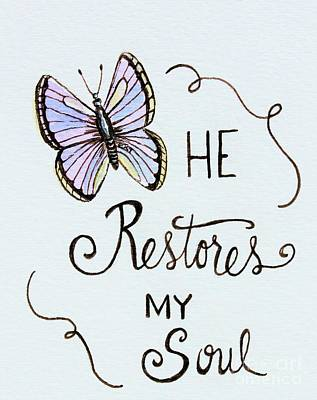 Painting - He Restores My Soul by Elizabeth Robinette Tyndall