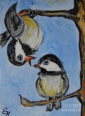 Painting - He Said She Said by Ella Kaye Dickey