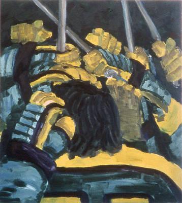He Scores Art Print by Ken Yackel