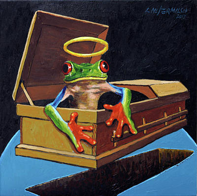Painting - He Was A Very Good Frog by John Lautermilch