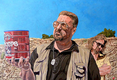 Lebowski Painting - He Was One Of Us by Tom Roderick