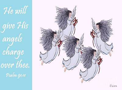 He Will Give His Angels Charge Over Thee Art Print