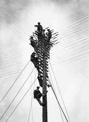 Telephone Poles Photograph - Head For Heights by William Vanderson