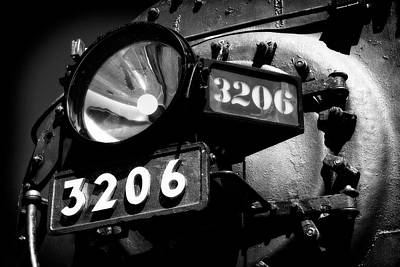Photograph - Headlamp Of Steam Locomotive No. 3206 by Daniel Hagerman