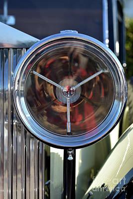 Mascot Photograph - Head Light Of A 1934 Rolls Royce 20/25 by George Atsametakis