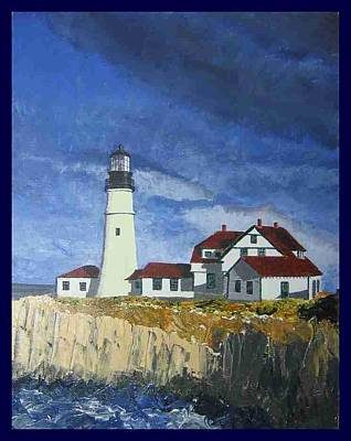 Portland Head Lighthouse Painting - Head Lighthouse  by Francis Chester