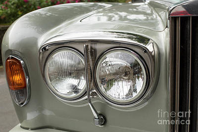 Photograph - Head Lights Of A Rolls Royce by Patricia Hofmeester