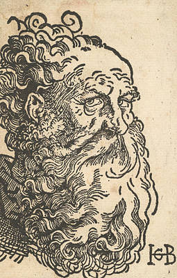 Relief - Head Of A Bearded Man by Hans Baldung Grien