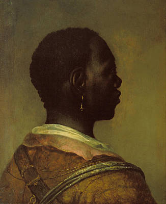 Head Of A Black Man Art Print