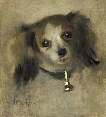 Painting - Head Of A Dog by Auguste Renoir