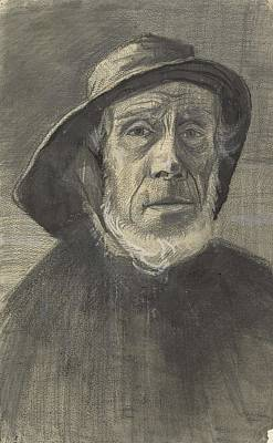 Painting - Head Of A Fisherman With A Fringe Of Beard And A Sou Wester The Hague January 1883 Vincent Van Gogh by Artistic Panda