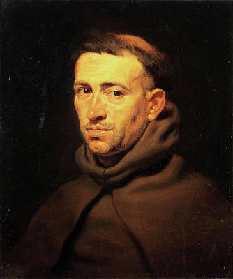 Church Painting - Head Of A Franciscan Monk by Peter Paul Rubens