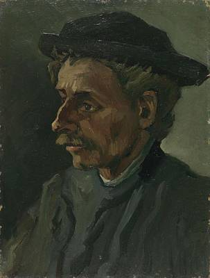 Painting - Head Of A Man Nuenen March  May 1885 Vincent Van Gogh 1853  1890 by Artistic Panda
