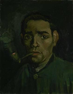 Painting - Head Of A Man Nuenen November 1884  February 1885 Vincent Van Gogh 1853  1890 by Artistic Panda