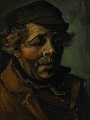 Head Of A Peasant  Art Print by Vincent van Gogh
