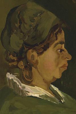 Head Of A Peasant Woman Art Print by Vincent Van Gogh