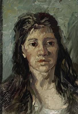 Painting - Head Of A Prostitute Antwerp, December 1885 Vincent Van Gogh 1853  1890 by Artistic Panda