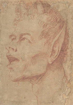 Drawing - Head Of A Satyr Facing Left by Treasury Classics Art