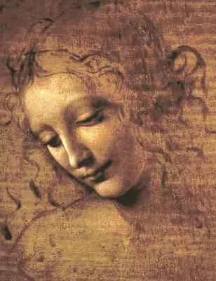 Painting - Head Of A Woman by Leonardo Da Vinci
