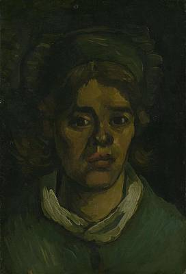 Painting - Head Of A Woman Nuenen March  May 1885 Vincent Van Gogh 1853  1890 by Artistic Panda
