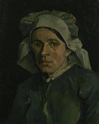 Painting - Head Of A Woman Nuenen, November 1884 - January 1885 Vincent Van Gogh 1853  1890 by Artistic Panda