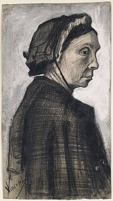 Painting - Head Of A Woman The Hague, December 1882 - January 1883 Vincent Van Gogh 1853  1890 by Artistic Panda