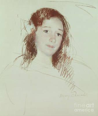 Adele Wall Art - Pastel - Head Of Adele by Mary Stevenson Cassatt