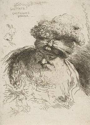Relief - Head Of An Old Bearded Man With A Turban by Giovanni Benedetto Castiglione
