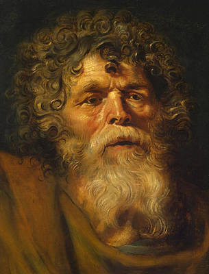 Ecce Homo Painting - Head Of An Old Man by Peter Paul Rubens