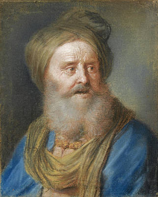 Drawing - Head Of An Old Man With A Turban by Giuseppe Nogari