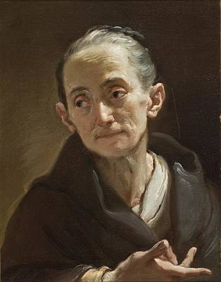 Woman Painting - Head Of An Old Woman by Celestial Images
