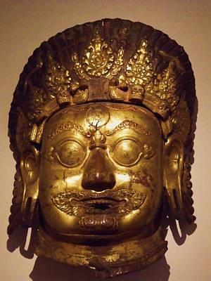 Photograph - Head Of Bhairava A Horrific Form Of God Shiva by Anna Villarreal Garbis