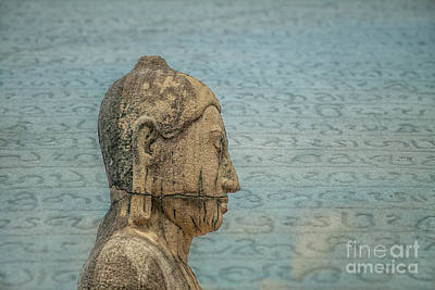 Photograph - Head Of Buddha by Patricia Hofmeester